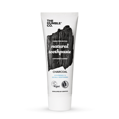 The Humble Co.-Natural Toothpaste | Charcoal with Fluoride - The Cruelty Free Beauty Box