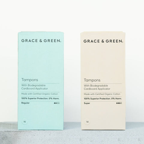 Grace & Green-Organic Non Applicator Tampons | Regular