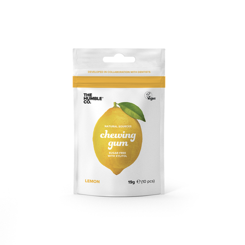 The Humble Co.- Natural Chewing Gum | Lemon - The Cruelty Free Beauty Box