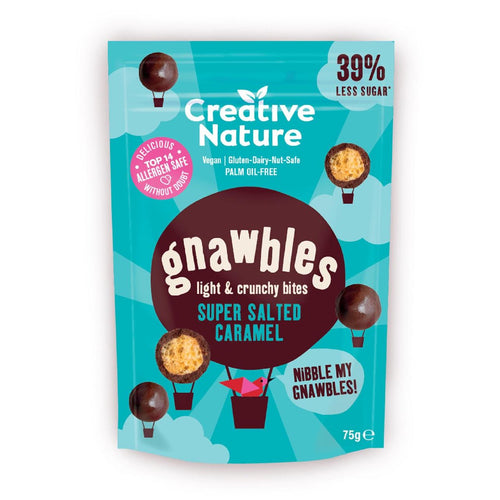 Creative Nature-Light & Crunchy Gnawbles | Super Salted Caramel | Vegan