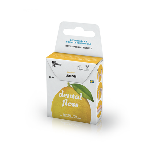 The Humble Co.-Dental Floss | Lemon | 50m - The Cruelty Free Beauty Box