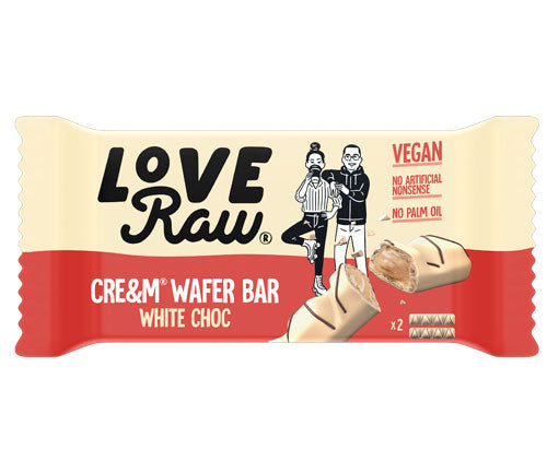 LoveRaw-Cre&m Filled Wafer Bar | White Choc | Vegan Kinder Bueno
