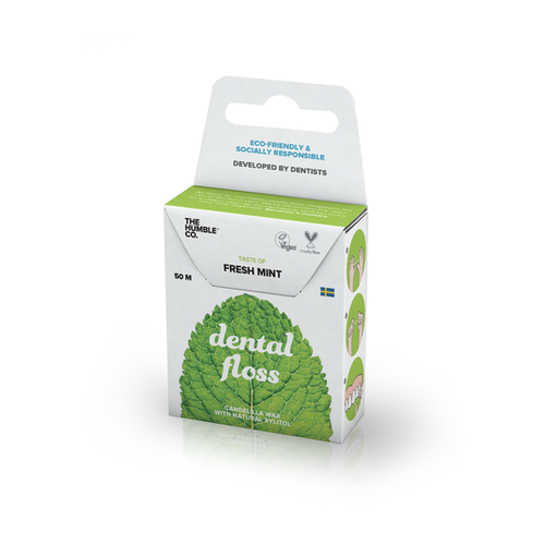 The Humble Co.-Dental Floss | Mint | 50m - The Cruelty Free Beauty Box
