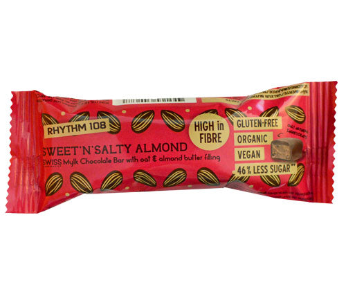 Rhythm 108-Swiss Chocolate Bar | Sweet 'N' Salty Almond