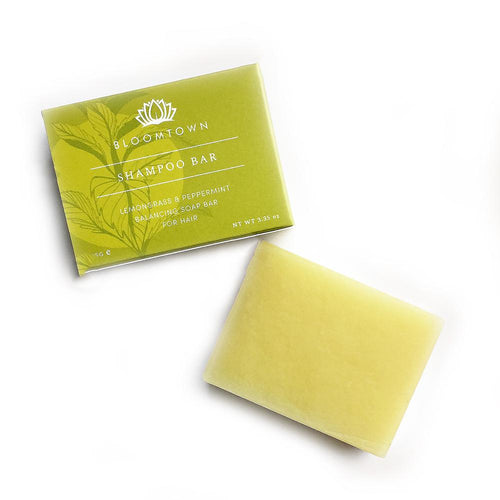 Bloomtown- Balancing Shampoo Bar | Lemongrass and Peppermint - The Cruelty Free Beauty Box