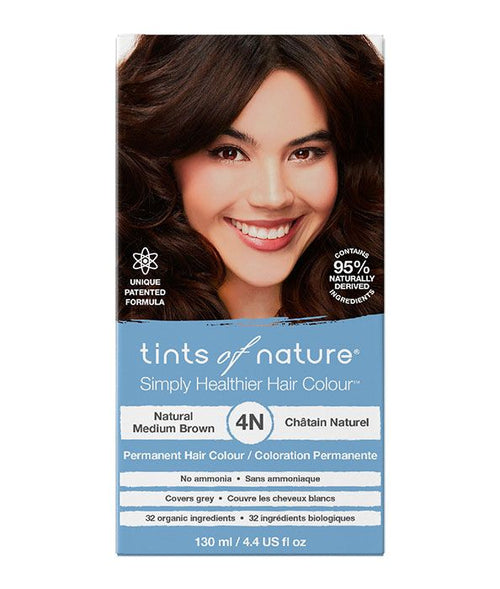 Tints of Nature-Permanent Hair Dye | 4N Natural Medium Brown