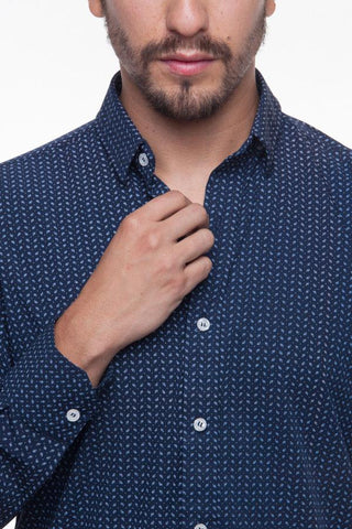 Camisa Troozt Bambu Navy Estampados 4