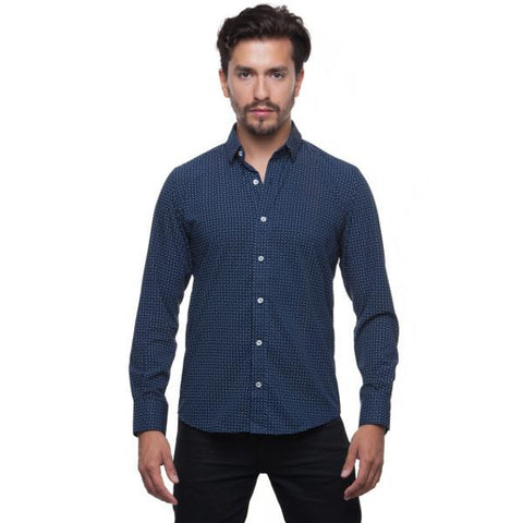Camisa Troozt Bambu Navy Estampados 1