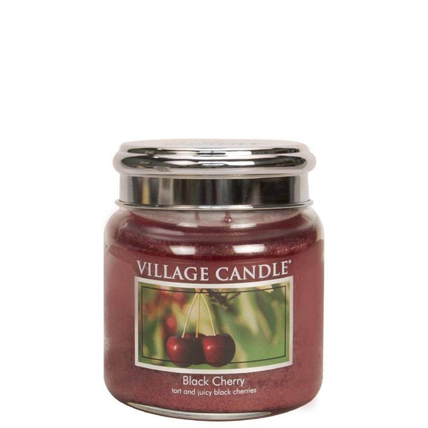 Black Cherry Village Candle 16oz Scented Candle Jar - Mood Essential Oils