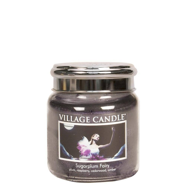 Sugarplum Fairy Village Candle 16oz Scented Candle Jar - Mood Essential Oils