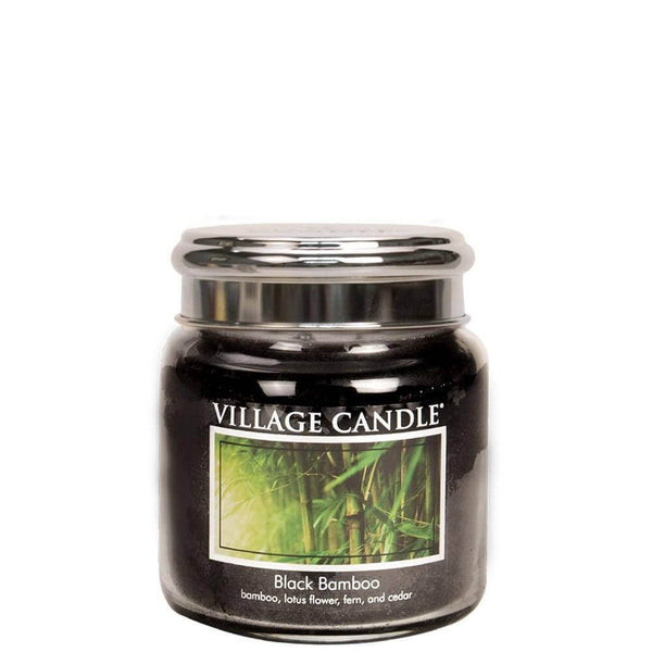 Black Bamboo Village Candle 16oz Scented Candle Jar - Mood Essential Oils