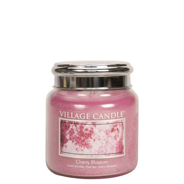 Cherry Blossom Village Candle 16oz Scented Candle Jar - Mood Essential Oils