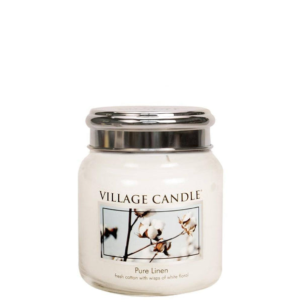 Pure Linen Village Candle 16oz Scented Candle Jar - Mood Essential Oils