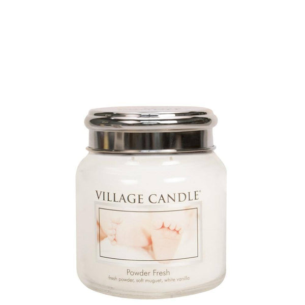 Powder Fresh Village Candle 16oz Scented Candle Jar - Mood Essential Oils