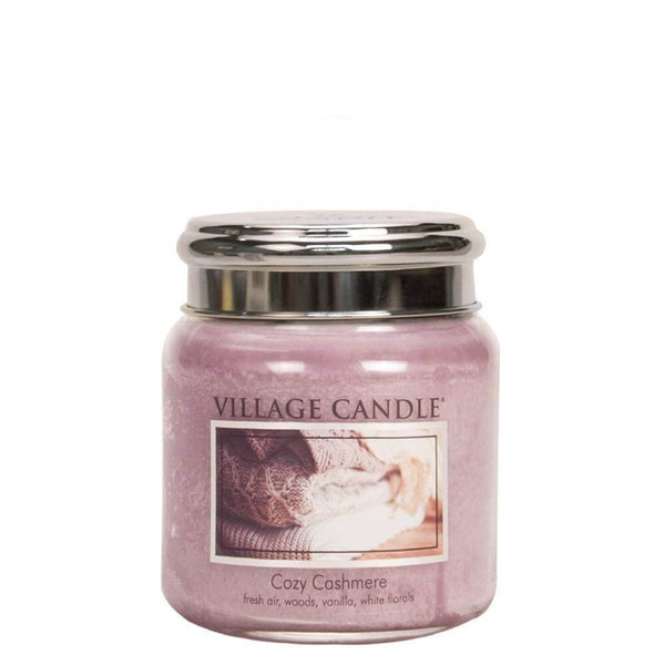 Cozy Cashmere Village Candle 16oz Scented Candle Jar - Mood Essential Oils