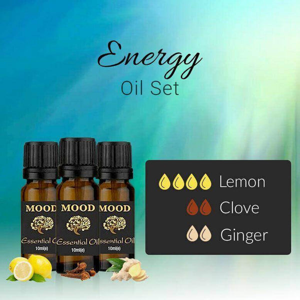 Energy Essential Oil Set Lemon Clove Ginger 10ml Aromatherapy Diffusers