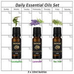 Essential Oils Set 10ml Daily Pure Eucalyptus Lavender Tea Tree Essential Oil - Mood Essential Oils