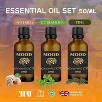 Essential Oils Set Nutmeg Coriander Pine 50ml Essential Oil Aromatherapy - Mood Essential Oils