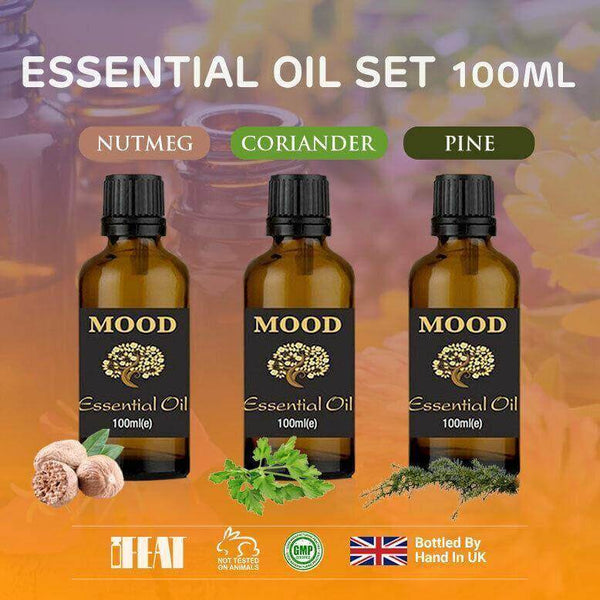 Essential Oils Set Nutmeg Coriander Pine 100ml Essential Oil Aromatherapy - Mood Essential Oils
