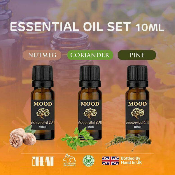 Essential Oils Set Nutmeg Coriander Pine 10ml Essential Oil Aromatherapy - Mood Essential Oils