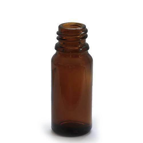 10 x 10ml Dropper Bottle Amber Glass with 18mm Neck With Cap - Mood Essential Oils