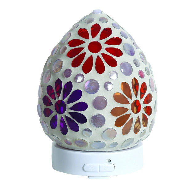Ceramic Multi Floral Ultrasonic LED Electric Diffuser - MoodEssentialOils.co.uk