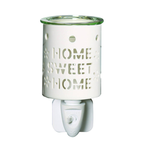 Plug In Wax Melt Burner - Home Sweet Home - MoodEssentialOils.co.uk