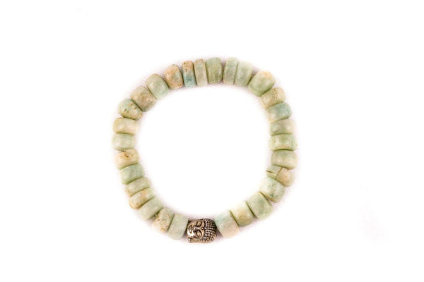 Amazonite Crystal Buddha Bracelet - Mood Essential Oils