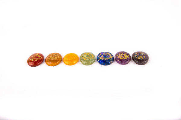 7 Chakra Healing Stone Set - Mood Essential Oils