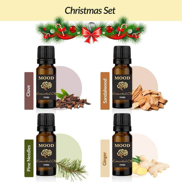 10ml Essential Oil Christmas Set Clove Sandalwood Pine Needles Ginger Natural Aromatherapy Essential Oils - Mood Essential Oils