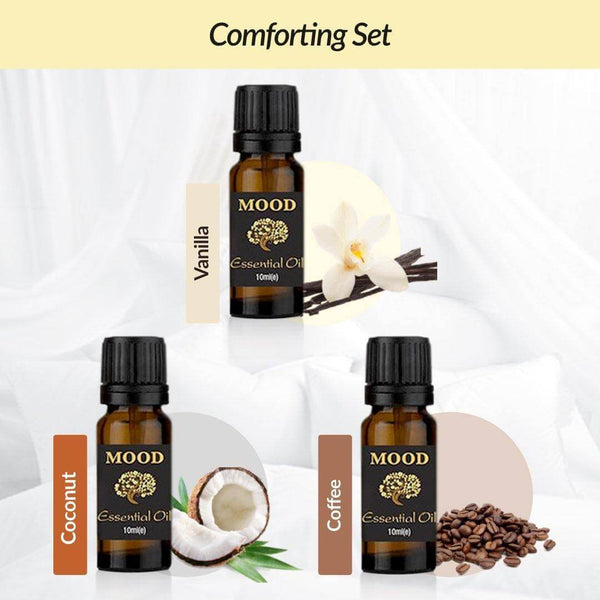 Comforting Oil Set Vanilla, Coconut and Coffee - Mood Essential Oils