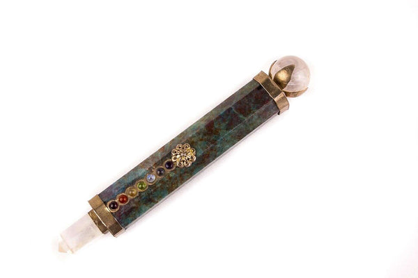 Green Aventurine Healing Chakra Crystal Wand - Mood Essential Oils