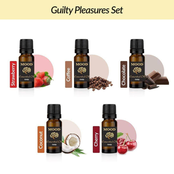 Guilty Pleasures Oil Set Strawberry Coffee Chocolate Coconut Cherry - Mood Essential Oils