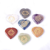 Heart Shape Chakra Crystal Stones Set - Mood Essential Oils