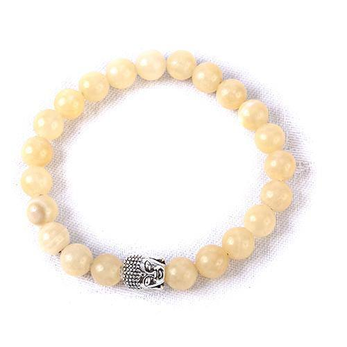Yellow Jade Crystal Buddha Bracelet - MoodEssentialOils.co.uk