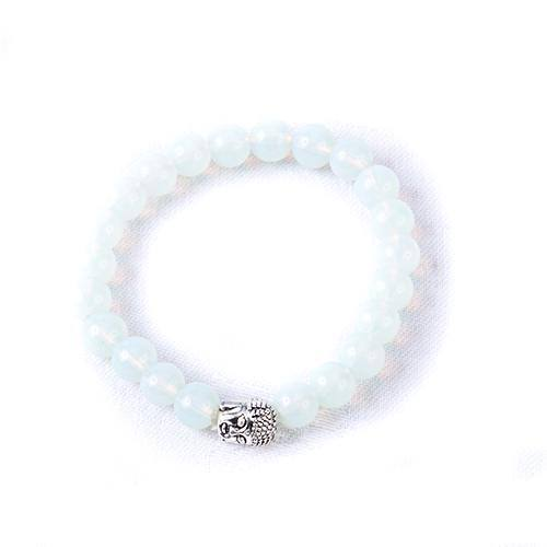 Opalite Crystal Buddha Bracelet - MoodEssentialOils.co.uk
