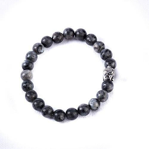Black Labradorite Crystal Buddha Bracelet - Mood Essential Oils