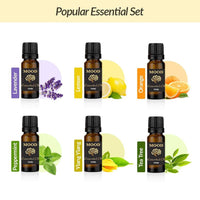 Popular Essential Oil Set Lavender, Lemon, Orange, Peppermint, Ylang Ylang, Tea Tree - Mood Essential Oils
