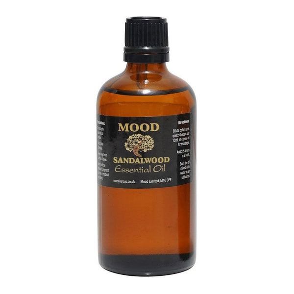 Sandalwood Essential Oil 100ml - MoodEssentialOils.co.uk