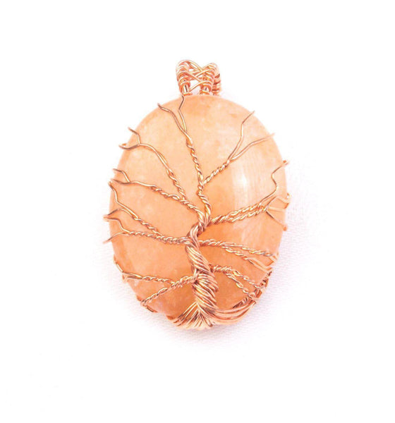 Crystal and Cooper detail Pendant Carnelian - Mood Essential Oils