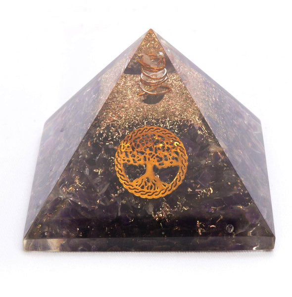Amethyst Orgonite Energy Pyramid - MoodEssentialOils.co.uk