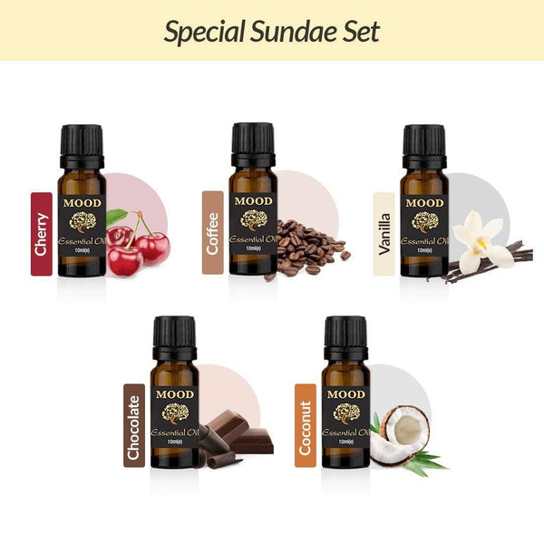 Special Sundae Oil Set Cherry, Coffee, Vanilla, Chocolate, Coconut - Mood Essential Oils