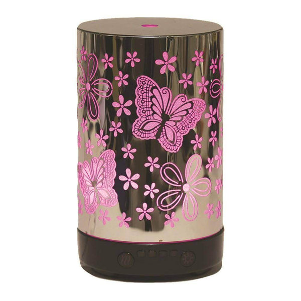 LED Ultrasonic Electric Diffuser - Butterfly - MoodEssentialOils.co.uk