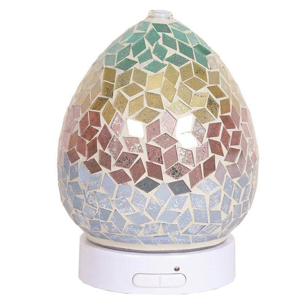 LED Ultrasonic Electric Diffuser - Diamond Tricolour - Mood Essential Oils