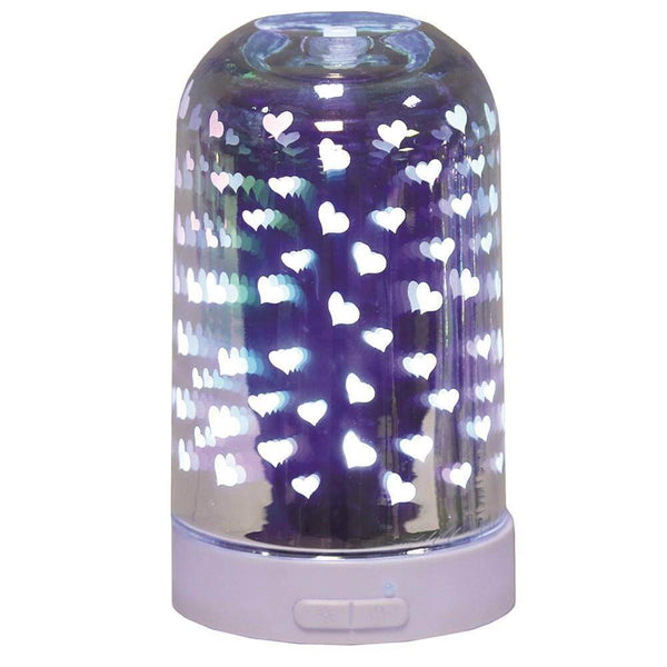 3D Ultrasonic Electric Diffuser - Hearts - Mood Essential Oils