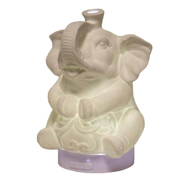 Ceramic Elephant Ultrasonic LED Electric Diffuser - MoodEssentialOils.co.uk