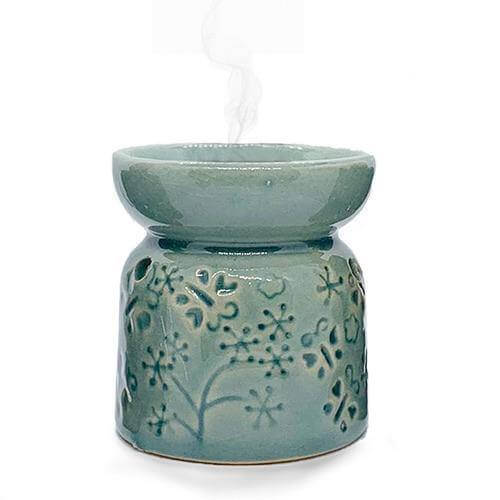 Ceramic Tea Light Oil Burner - Design and colour may vary! - Mood Essential Oils