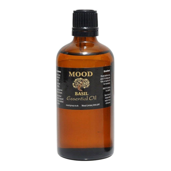 Basil Essential Oil 100ml - MoodEssentialOils.co.uk