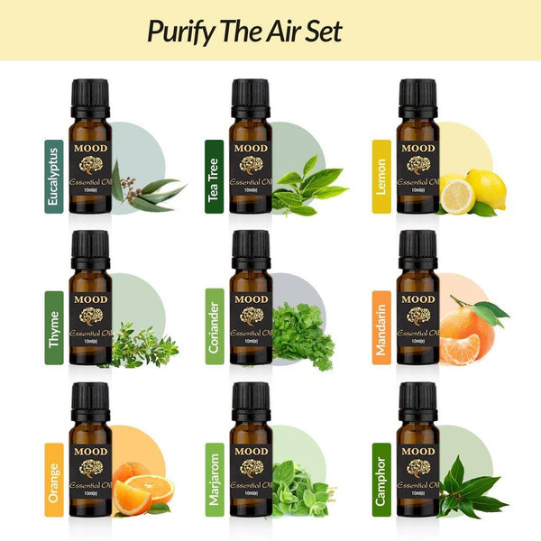 Purify The Air Essential Oil Set 9 Scents - Mood Essential Oils