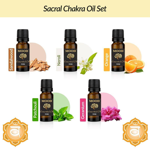 Sacral Chakra Oil Set - MoodEssentialOils.co.uk